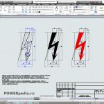 Чертеж графического символа электрического напряжения по ГОСТ 12.4.026-76