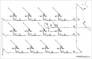 Схема горелок котла ТГМ