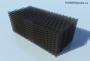 Ороситель из полимерных элементов решетчатой конструкции