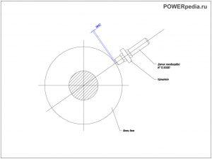 Чертеж установки датчика ИТ12.30.000