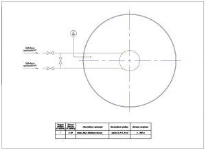 Схема измерения уровня в градирне