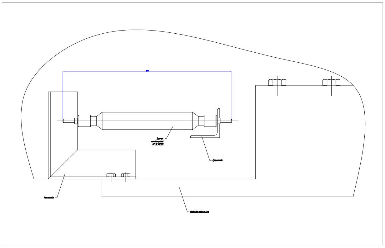 Чертеж установки контактного датчика ИТ12.36.000