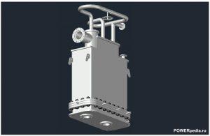 3D модель эжектора ТЭЦ