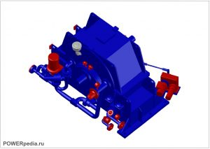 3D модель гидромуфты Voith