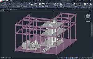 3D модель бойлерной установки