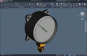 Модель технического манометра